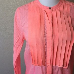 J. Crew long sleeve bright coral button up blouse